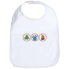 Camping Symbols Bib