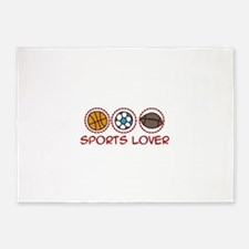 Sports Lover 5'x7'Area Rug