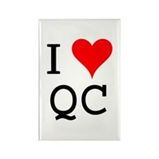 I Love QC Rectangle Magnet