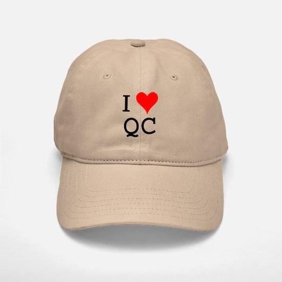 I Love QC Baseball Baseball Cap