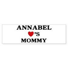 Annabel loves mommy Bumper Bumper Sticker