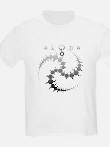 Spiral Crop Circle Grey T-Shirt