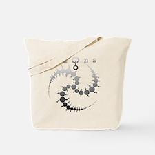 Spiral Crop Circle Grey Tote Bag