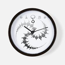 Spiral Crop Circle Grey Wall Clock