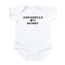 Annabelle loves mommy Infant Bodysuit