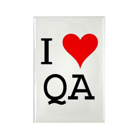 I Love QA Rectangle Magnet (100 pack)