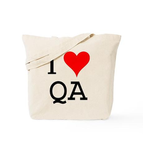 I Love QA Tote Bag