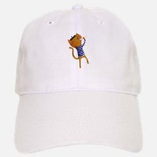 French cat with coffee Gorra beisbol