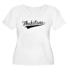 Whakatane, Retro, Plus Size T-Shirt