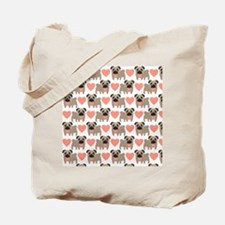 Pugs And Hearts Tote Bag