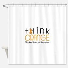 tHink ORAnGE Shower Curtain