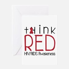 tHink RED Greeting Cards
