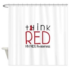 tHink RED Shower Curtain