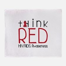 tHink RED Throw Blanket