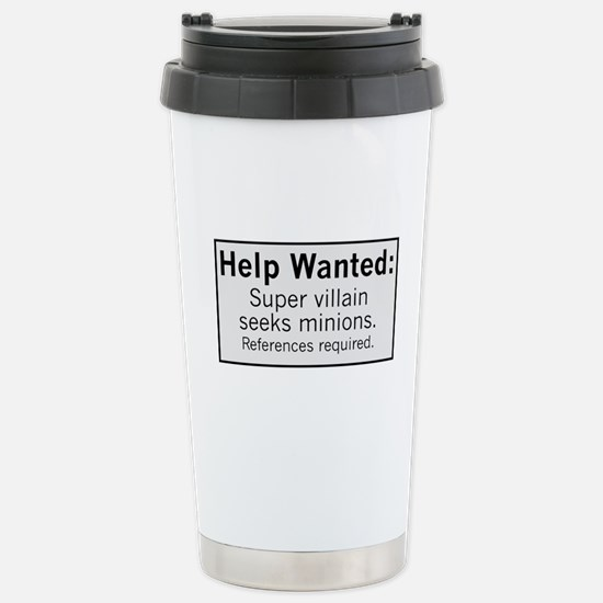 Minions Wanted Stainless Steel Travel Mug