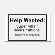 Minions Wanted Car Magnet 20 x 12