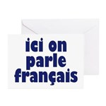Ici on Parle Francais Greeting Cards (Pk of 10