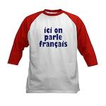 Ici on Parle Francais Kids Baseball Jersey