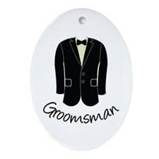 Groomsman Ornament (Oval)
