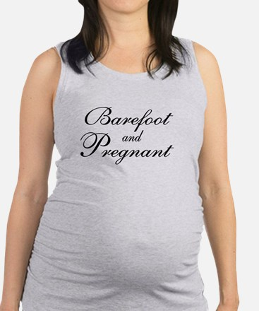 barefoot pregnant Tank Top