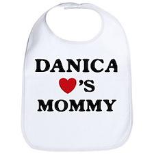 Danica loves mommy Bib