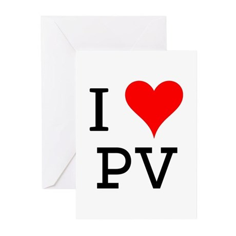 I Love PV Greeting Cards (Pk of 10)