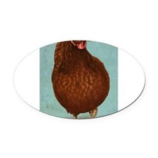 Rhode Island Red Oval Car Magnet