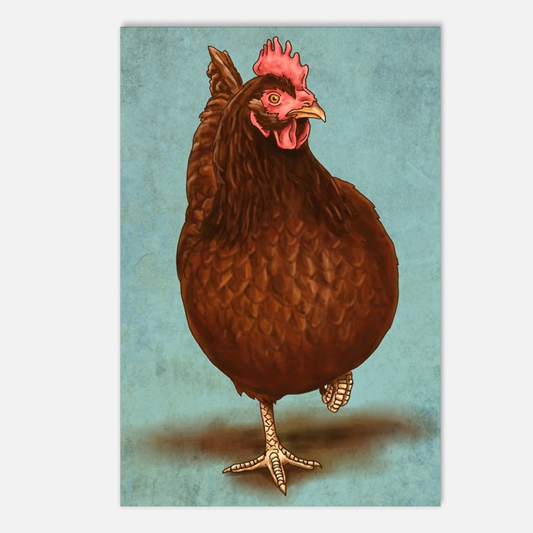 Rhode Island Red Postcards (Package of 8)
