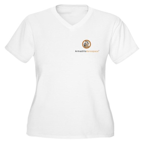 Armadillo Aerospace Women's Plus Size V-Neck T-Shi