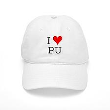 I Love PU Baseball Cap