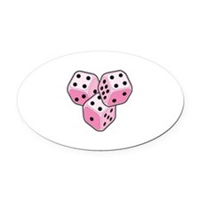 Bunco Breast Cancer Oval Car Magnet