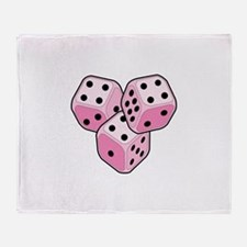 Bunco Breast Cancer Throw Blanket