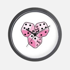 Bunco Breast Cancer Wall Clock