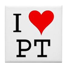 I Love PT Tile Coaster