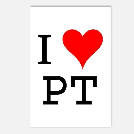 I Love PT Postcards (Package of 8)
