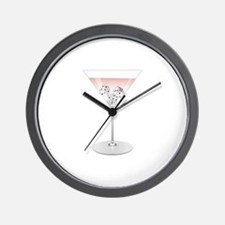 Bunco Martini Wall Clock
