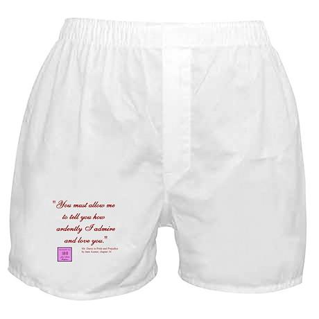 Jane Austen quote Boxer Shorts