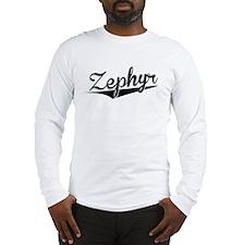 Zephyr, Retro, Long Sleeve T-Shirt