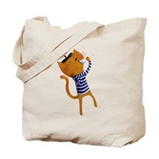 French cat with coffee Tote Bag