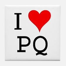 I Love PQ Tile Coaster