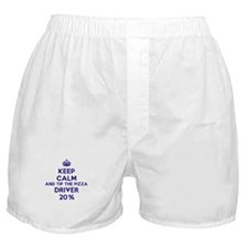 Keep calm and tip the pizza driver 20% Boxer Short