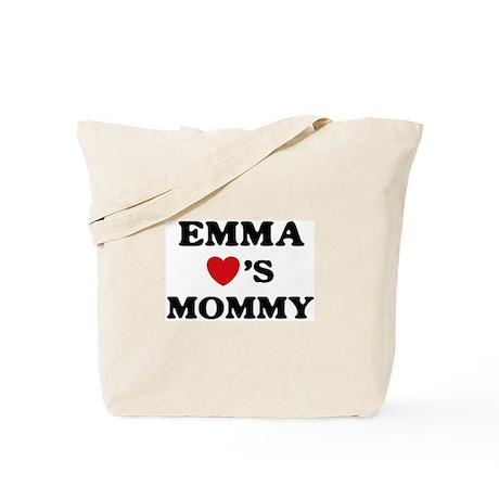 Emma loves mommy Tote Bag