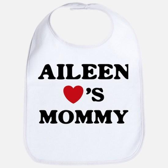 Aileen loves mommy Bib