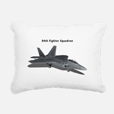 F-22A Raptor 94 FS Rectangular Canvas Pillow