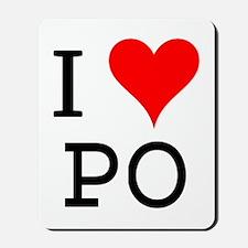 I Love PO Mousepad