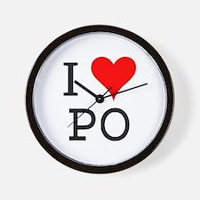 I Love PO Wall Clock