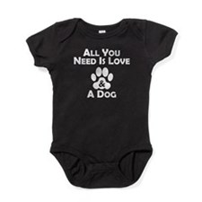 Love And A Dog Baby Bodysuit