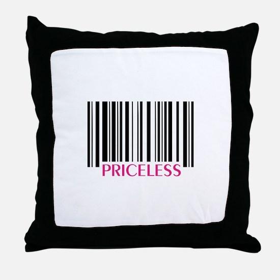 PRICELESS Throw Pillow