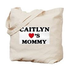 Caitlyn loves mommy Tote Bag