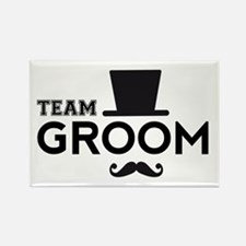 Team groom, hat and mustache Magnets